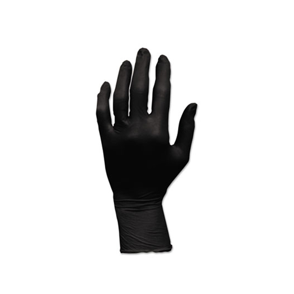 Hospeco - Black Small Powder Free Nitrile Gloves GLN105FS