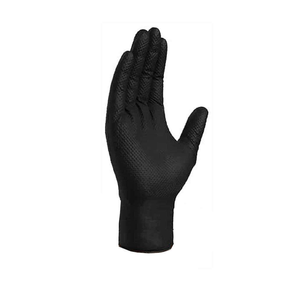 Hospeco - Black Extra Large Texture Powder Free Nitrile Gloves NT107BKFXL