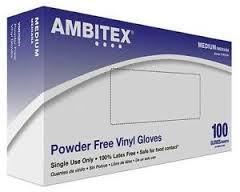 Tradex Intl Clear Medium Ambitex Powder Free Vinyl Glove VMD4201