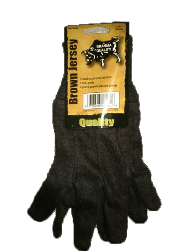 Pip Consumer Brown Large Jersey Glove WA7524A