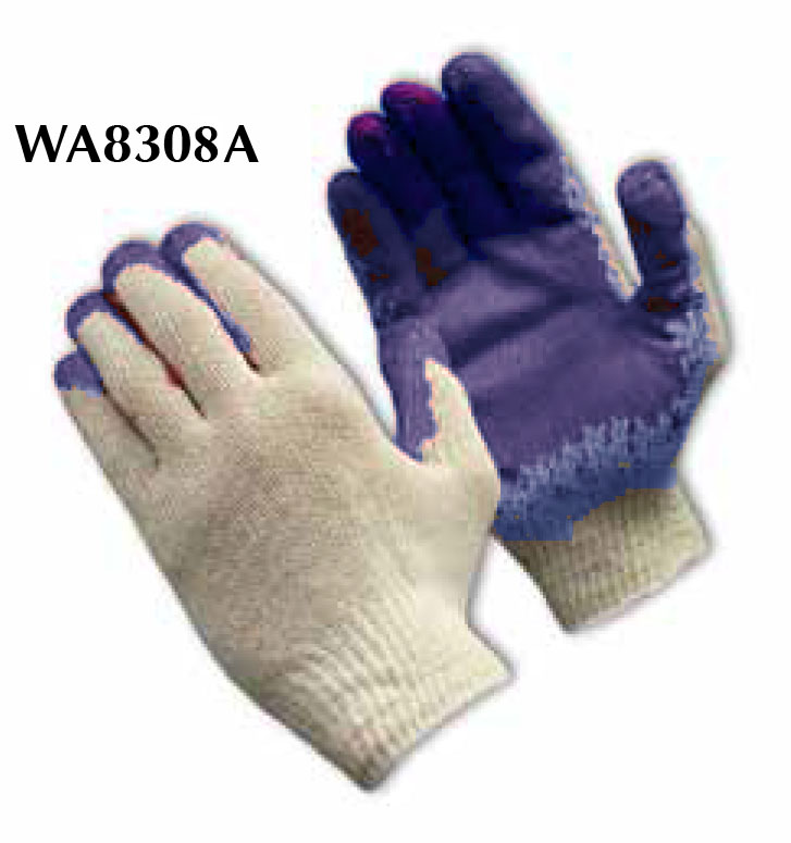 Pip Consumer Blue & White Knit Glove With Coated Palm WA86308A