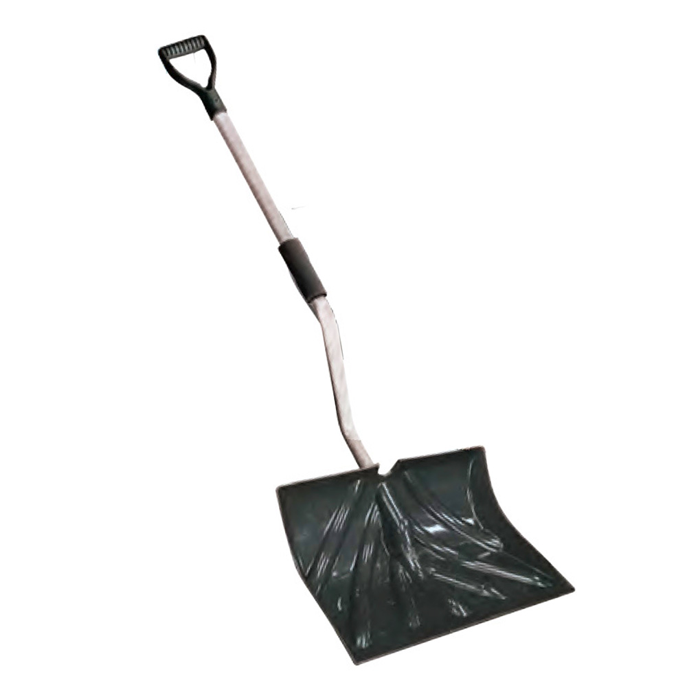 "Howard Berger Black 18""x14"" Back Saver Snow Shovel Poly Blade 1233BS"