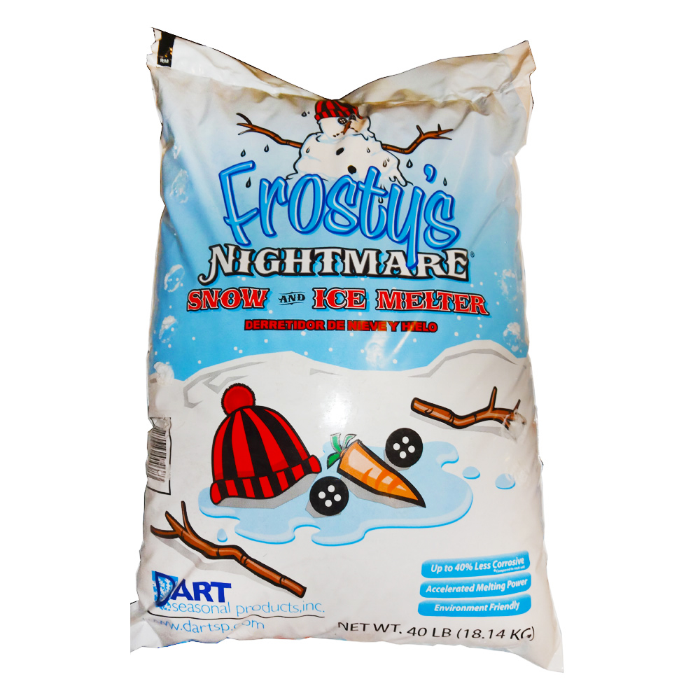 Dart Seasonal 40lb Bag Frosty Nightmare Snow And  Ice Melt FN40