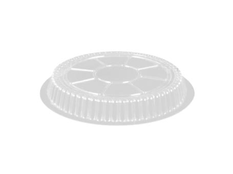 "Clear 9"" Round Plastic  Dome Lid LID34"
