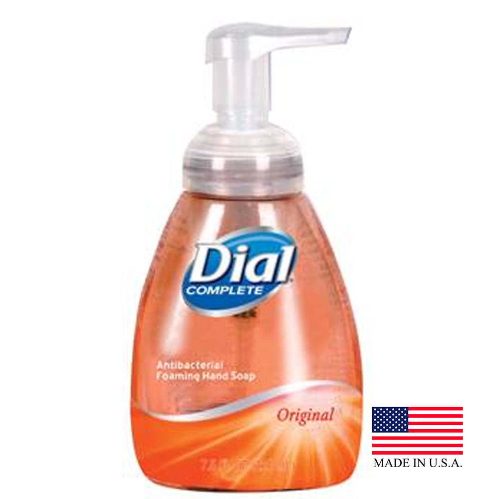 The Dial Corp Amber 7.5oz Anti Bacterial Tabletop Pump Foam Hand Soap 17000-00058