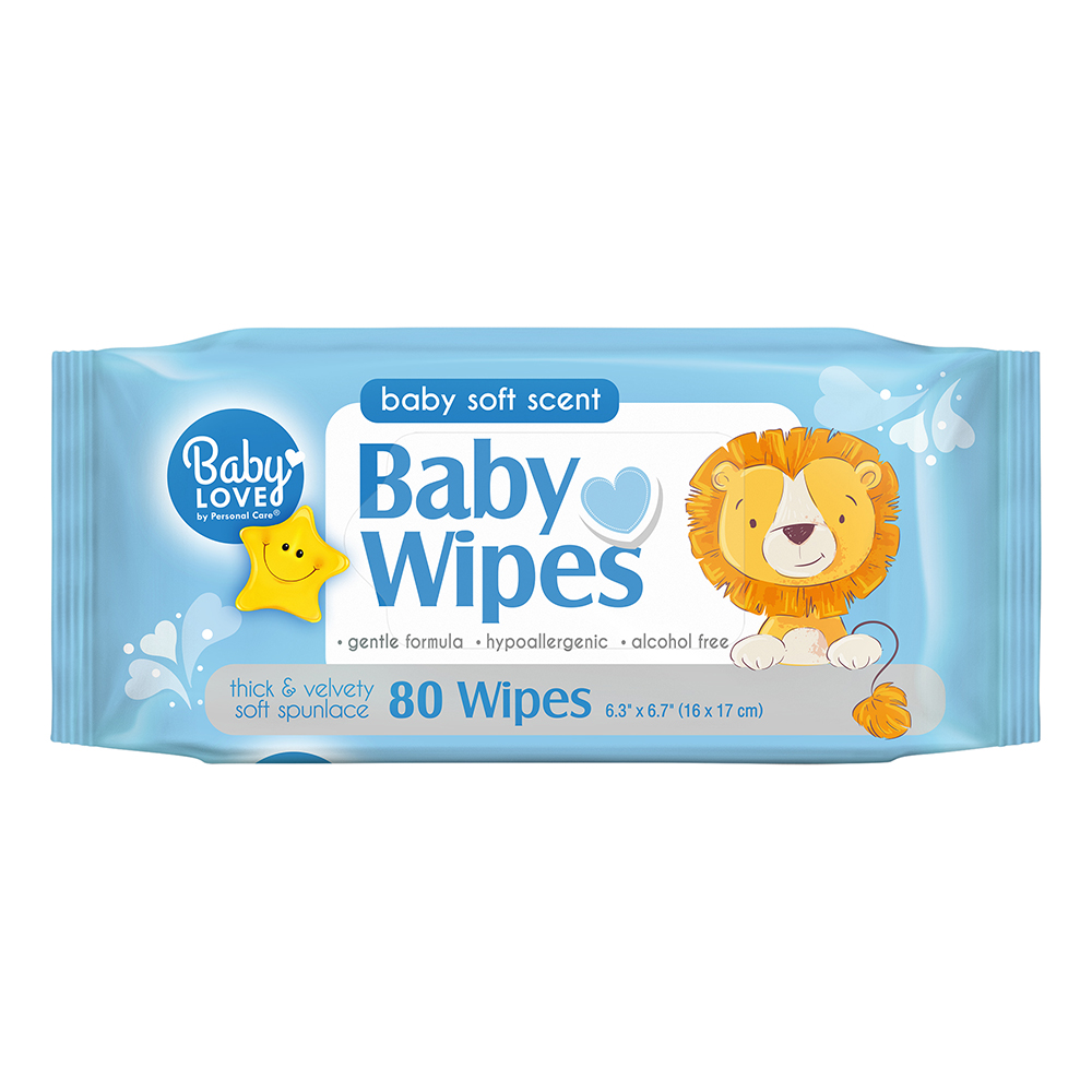 "Blue Cross Labs - Baby Days 7""x6"" 80 Sheet Re-seal Extra Soft Baby Wipes 114-4"