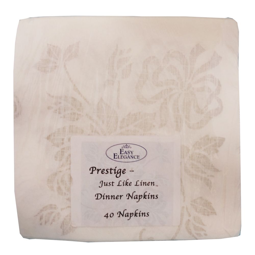 "Convenience Packs - White 17""x17"" 1/4 Fold        Prestige Just Like Linen Paper Dinner Napkin"