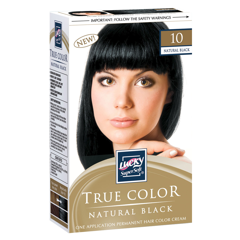 Delta Brands Lucky Super Soft Natural Black Hair Color Cream 10265-12
