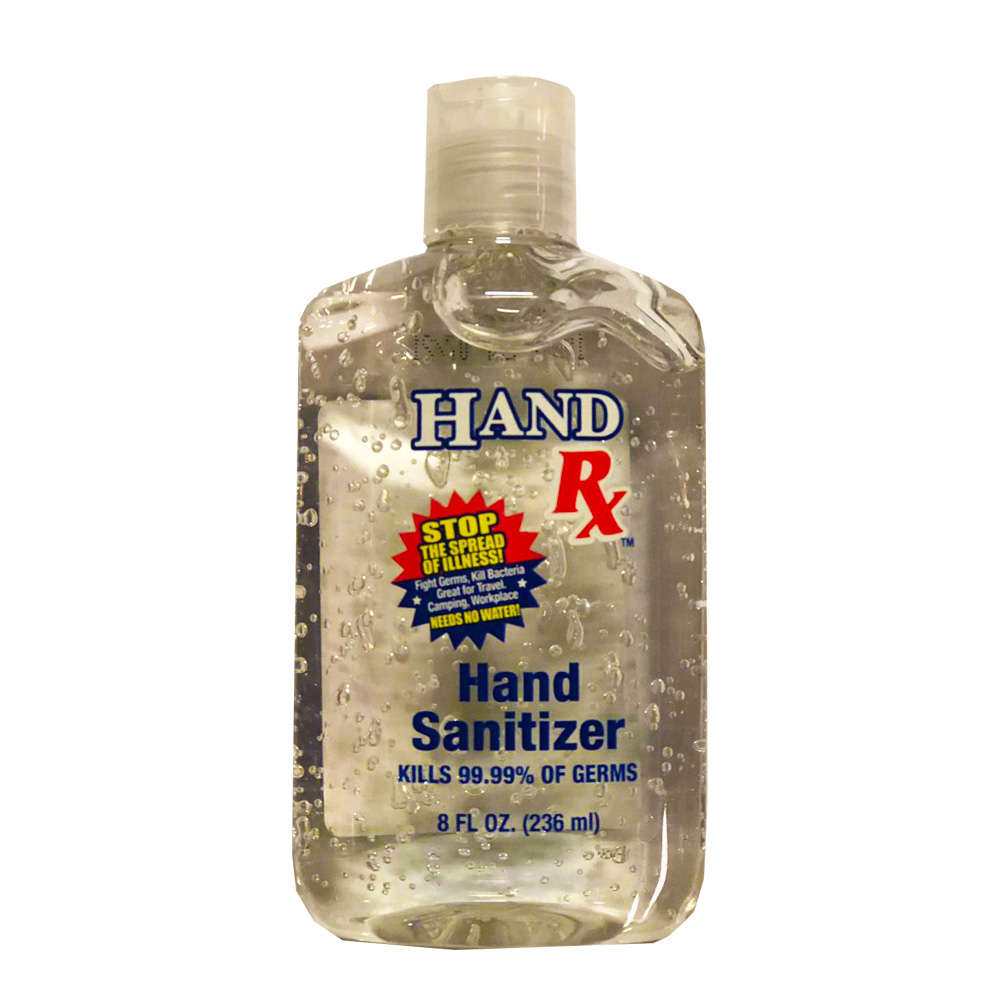 Blue Cross Labs Clear 8oz Hand Sanitizer Flip Cap 148-9F