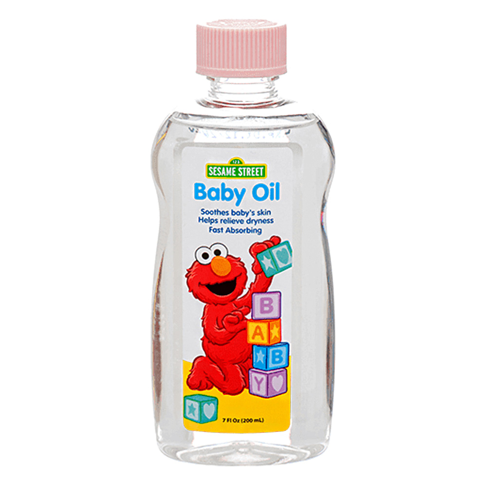 Blue Cross Labs Clear 7oz Sesame Street Baby Oil 693-4