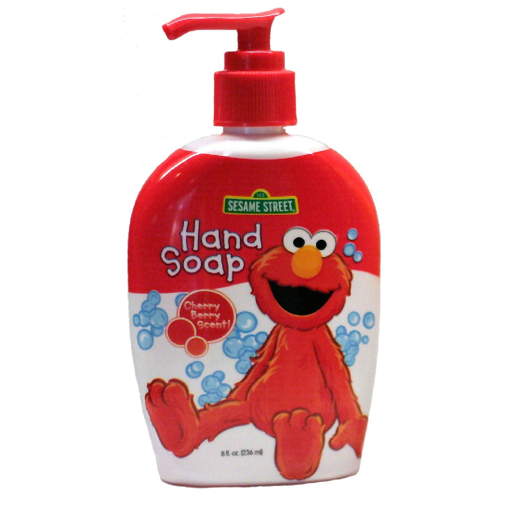 Blue Cross Labs 8oz Sesame Street Elmo Cherry Berry Pump Liquid Hand Soap 706-1