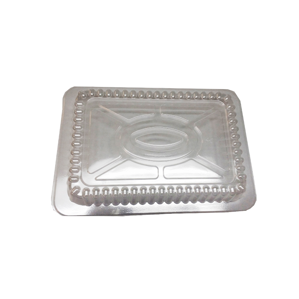 Clear 2lb Oblong Plastic Dome Lid LID25