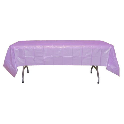 "Crown Display Lavender 54""x108"" Plastic Table Cover 90012"
