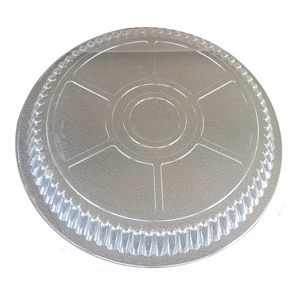 "Clear 8"" Round Plastic Dome Lid L                 D36"
