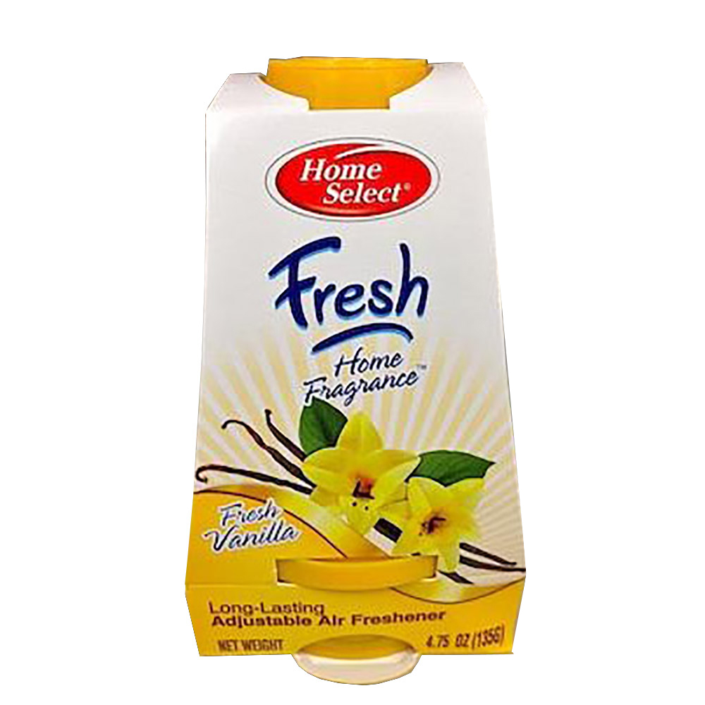 4.75oz Fresh Vanilla Fragrance Adjustable Solid Gel Air Fresheners 10351