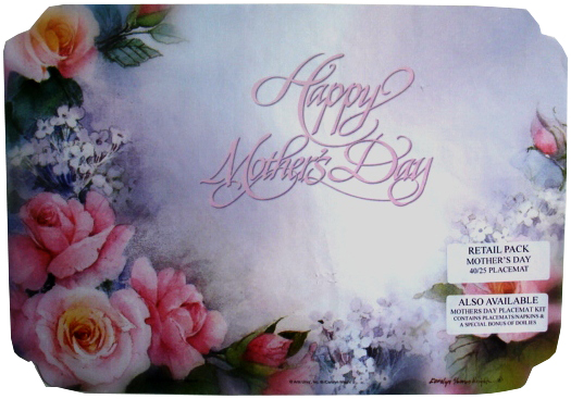 "Mother's Day Design 10""x14"" Placemat MOTHERS DAY"