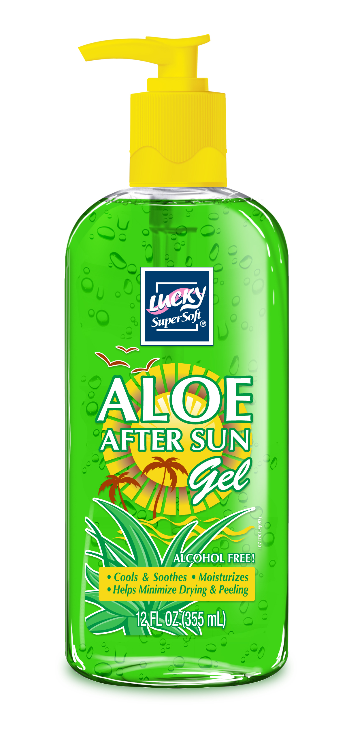 Delta Brands 12oz Lucky Super Soft Aloe Vera AfterSun Body Gel 10717-12