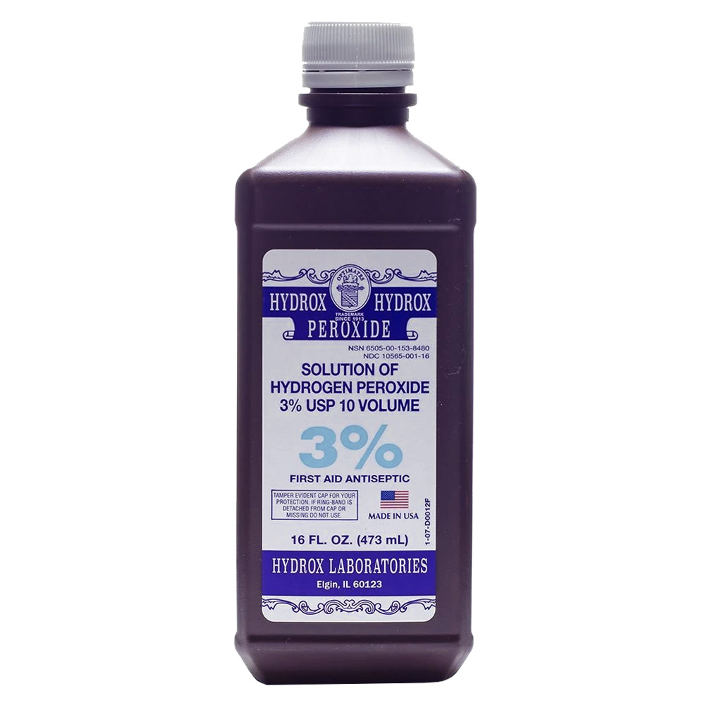 Hydrox Laboratories - 16 oz. 3% Solution of       Hydrogen Peroxide D0012