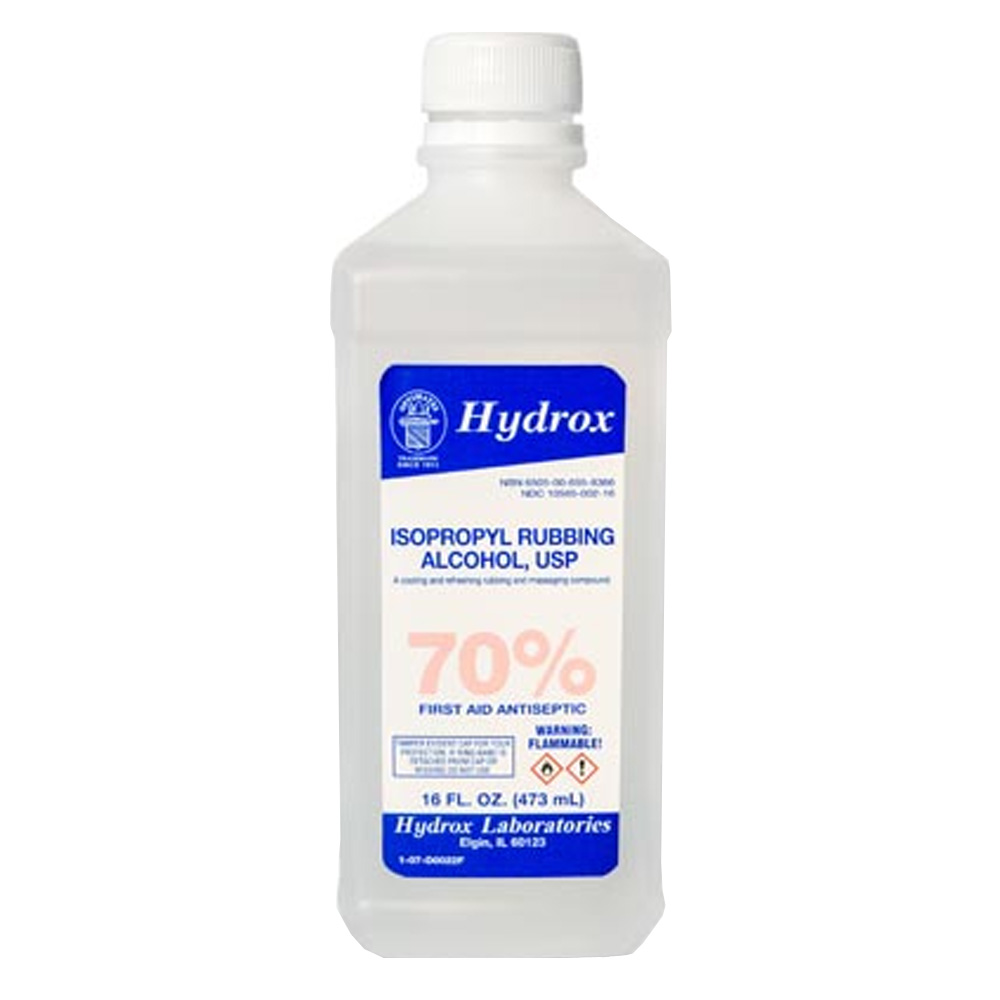 Hydrox Laboratories - 16 oz. 70% Isopropyl        Rubbing Alcohol D0022