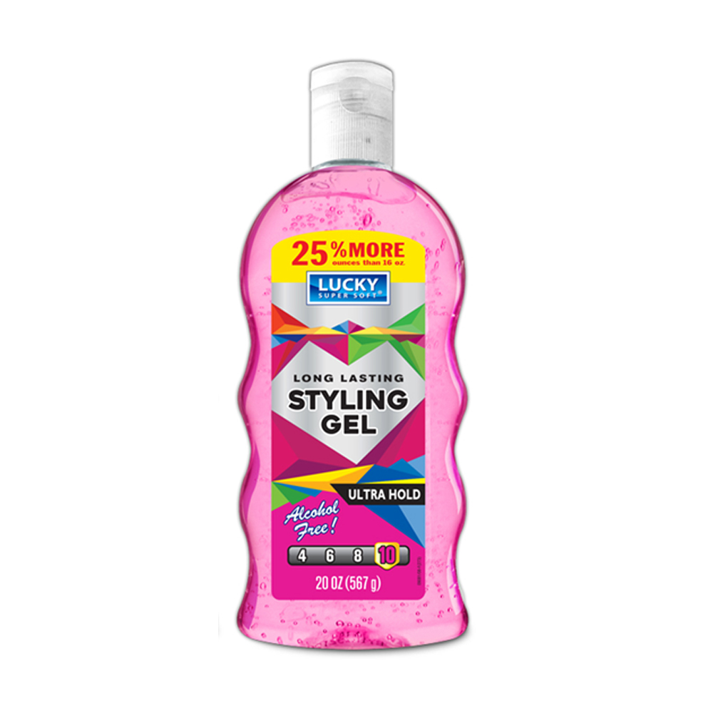 Delta Brands 16oz Lucky Super Soft Ultra Hold     Styling Gel 9081-12
