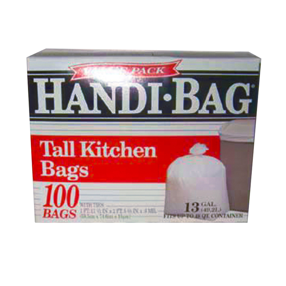 Berry Global Film White 13 Gallon Handi Bag Tall  Kitchen Trash Bag HAB 6FK100