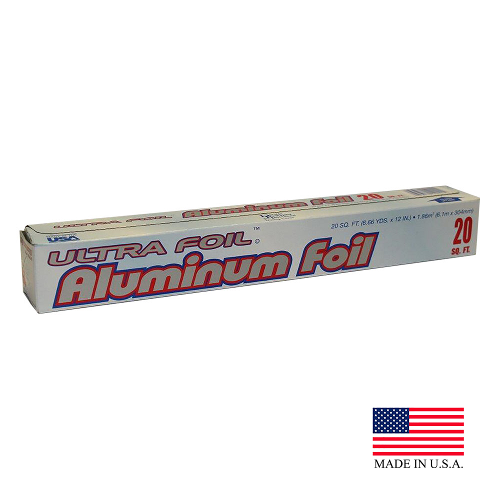 "Durable 12""x20' 50 Count Ultra Aluminum Foil Roll 12020XX"