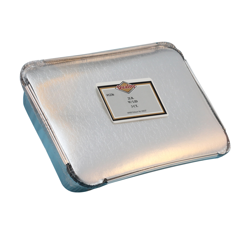 Convenience Packs Aluminum 2lb Oblong Pan With Board Lid Combo 1236/72CB