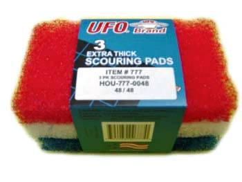 "UFO Inc. - Assorted 6""x3.5""x1"" 3 Pack Extra Thick All Purpose Scouring Pads 777-0048"
