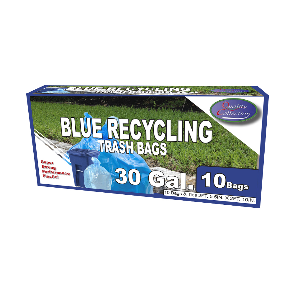 Quality Collection Blue 30 Gallon Recycle Bags B36/10B