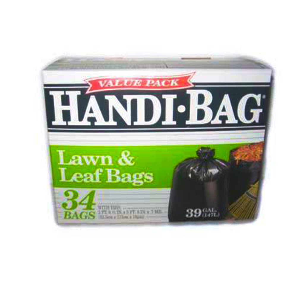 Berry Global Film Black 39 Gallon Handi Bag Lawn &Leaf Bag HAB6FL34