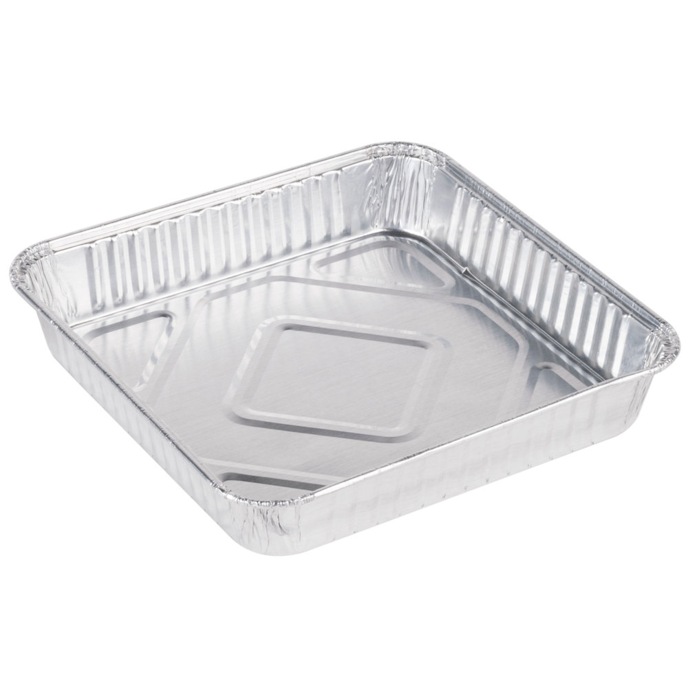"Convenience Packs Aluminum 8"" Square Cake Pan Alum8"""