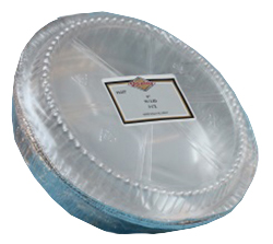 "Convenience Packs Aluminum 9"" Round Pan With Dome Lid 1237/48PL"