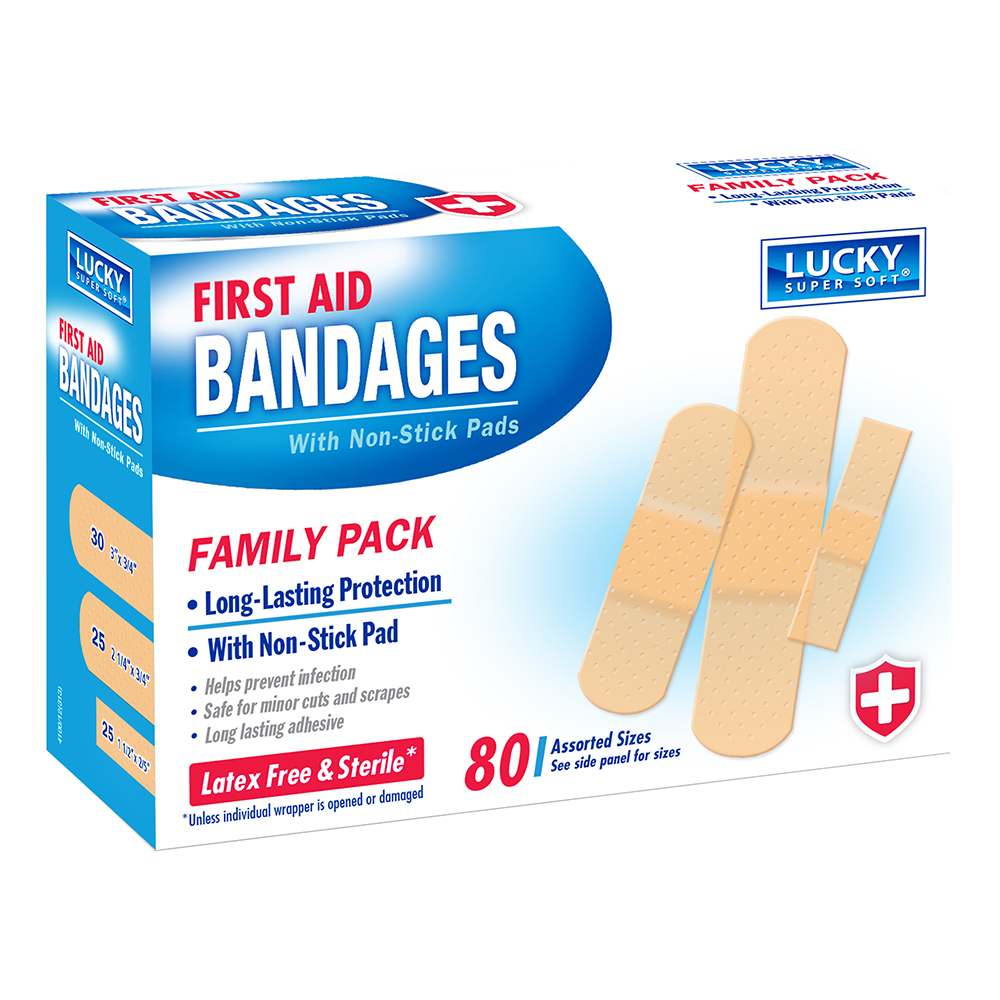 Delta Brands 100 Count Lucky Super Soft First Aid Bandages 4100-24