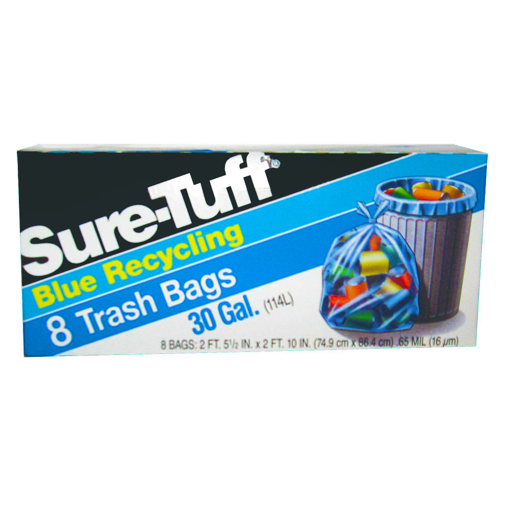 Berry Global Film Blue 30 Gallon Sure Tuff RecycleTrash Bag SRT24BFT8