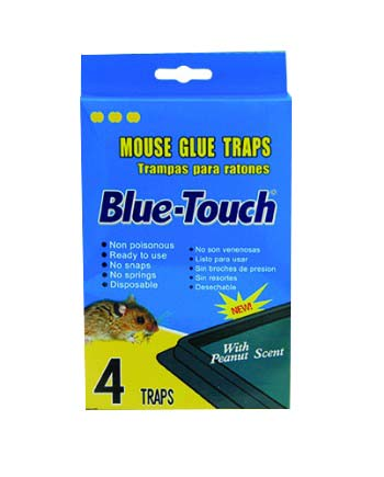 Blue Touch Inc 4 Pack Glue Mouse Trap 32204