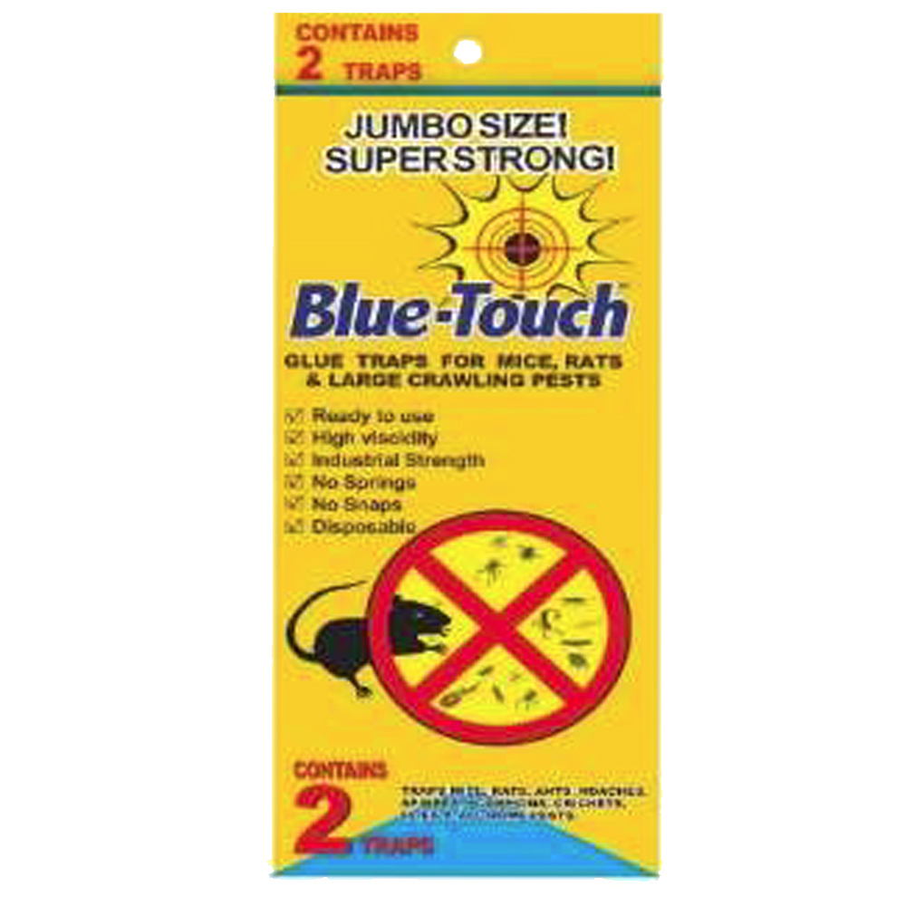 Blue Touch Inc 2 Pack Large Glue Mouse Trap 32216