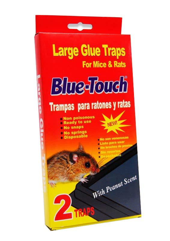 Blue Touch Inc 2 Pack Large Glue Mouse Trap 32202