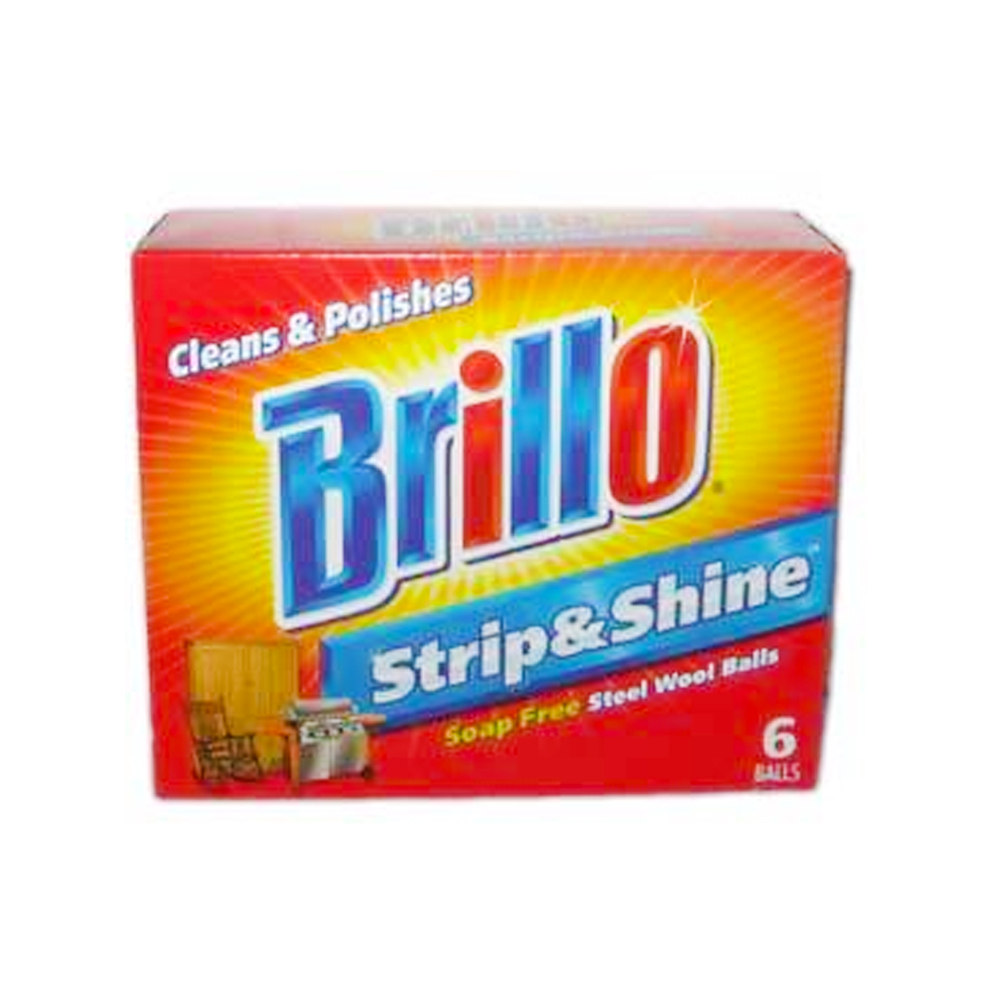 Brillo Soap Free 6 Count Steel Wool Balls AR23306