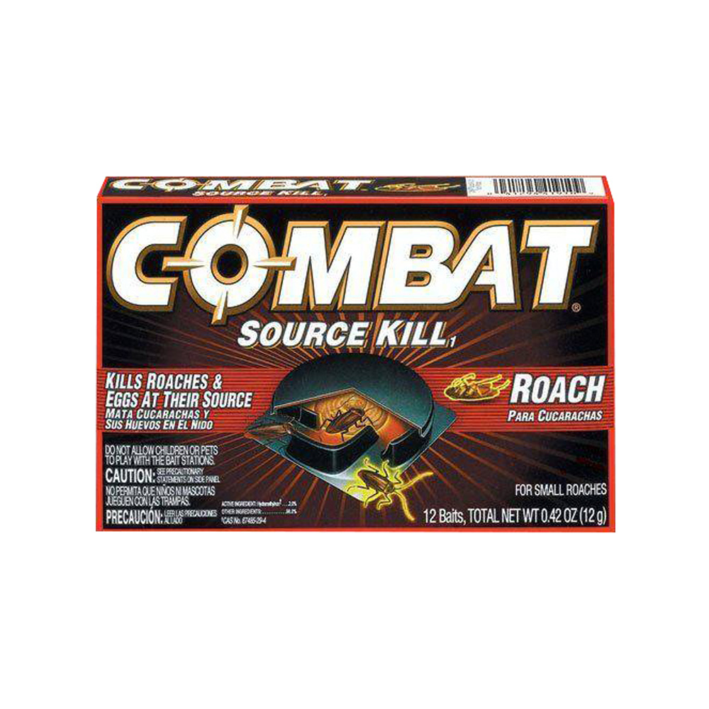 The Dial Corp. - Combat 12 Count Source Kill Small Bait Roach Killer 41910