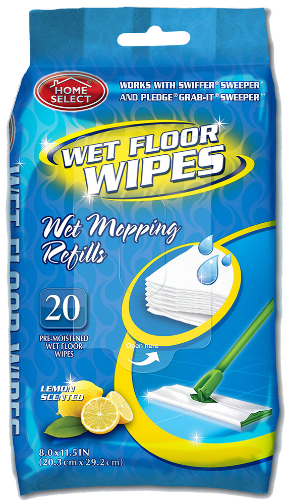 Delta Brands 20 Count Home Select Wet Floor Wipe 10263-24