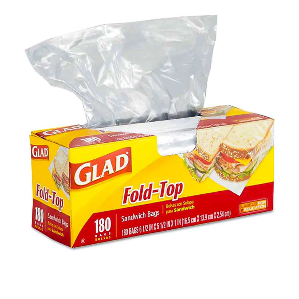 The Clorox Sales Company Clear Fold Top Glad      Sandwich Bag 60771