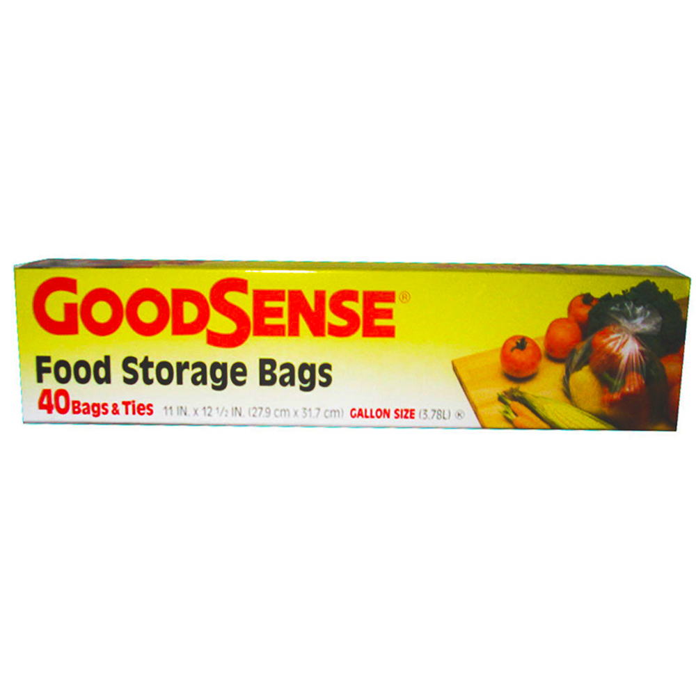 "Berry Global - Goodsense 11""x12.5"" 40 Count GallonPlastic Food Storage Bag & Ties GDS24U40"