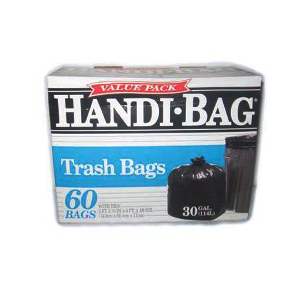 Berry Global Film Black 30 Gallon Handi Bag Heavy Duty Trash Bag HAB 6FT60