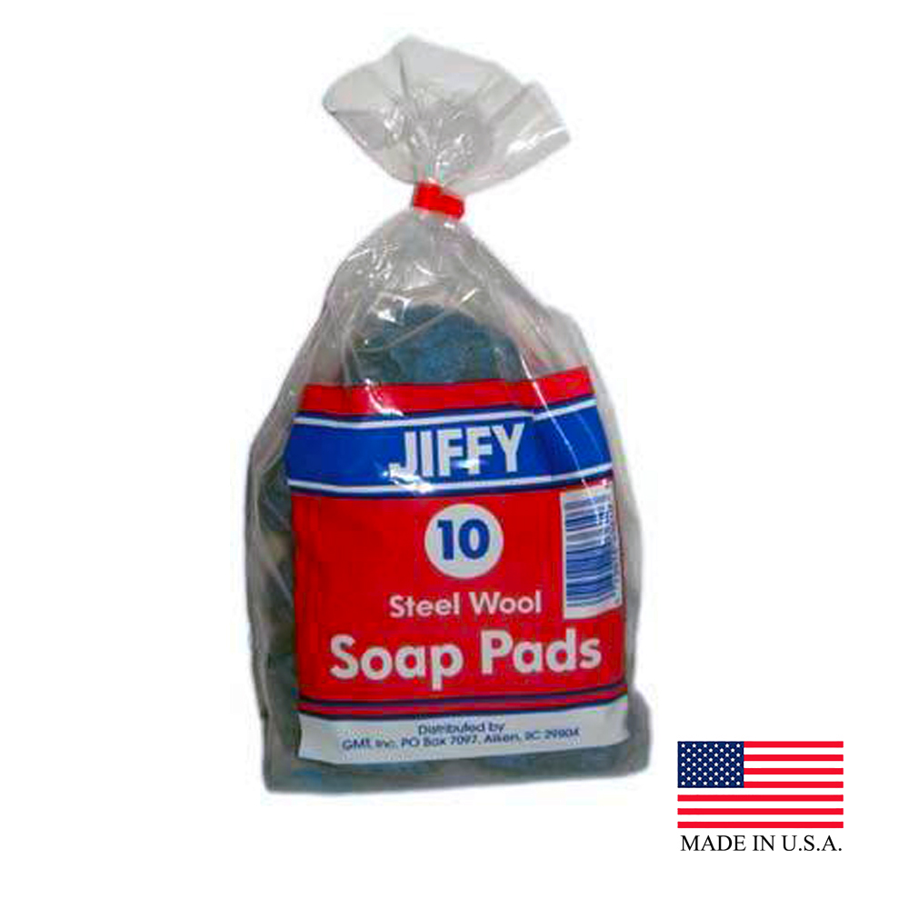 Global Material Technology - Jiffy 10 Count Steel Wool Soap Pad 281104