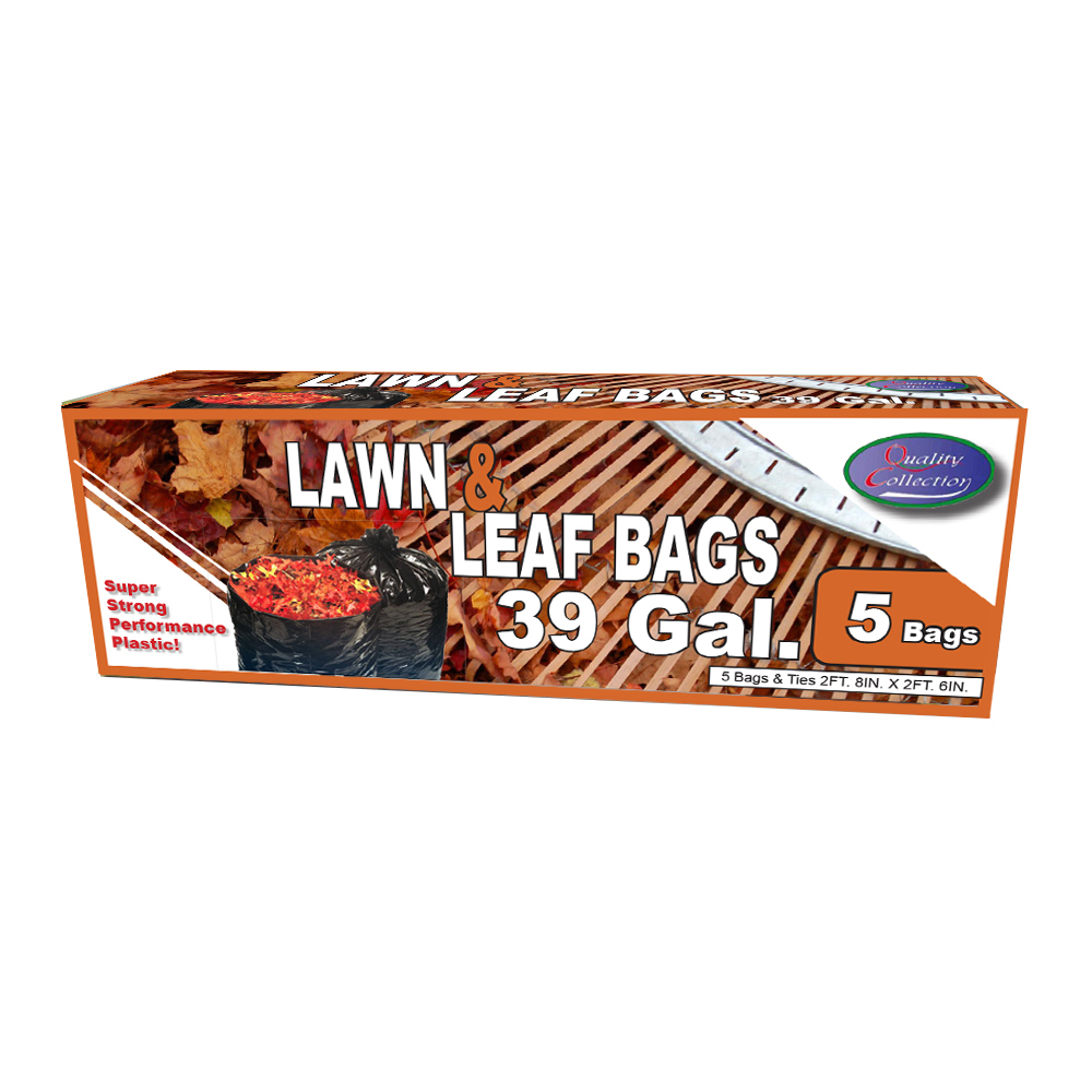 Quality Collection Black 39 Gallon Lawn Leaf Bag B73