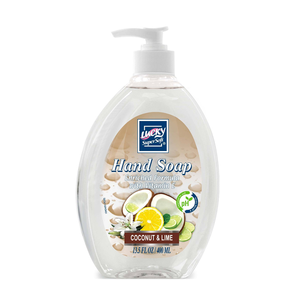 Delta Brands 13.5oz Lucky Super Soft Coconut Lime Liquid Pump Hand Soap 3221-12