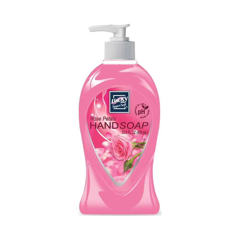 Delta Brands - Lucky Super Soft 13.5 oz. Rose Petals Liquid Pump Hand Soap 3005-12