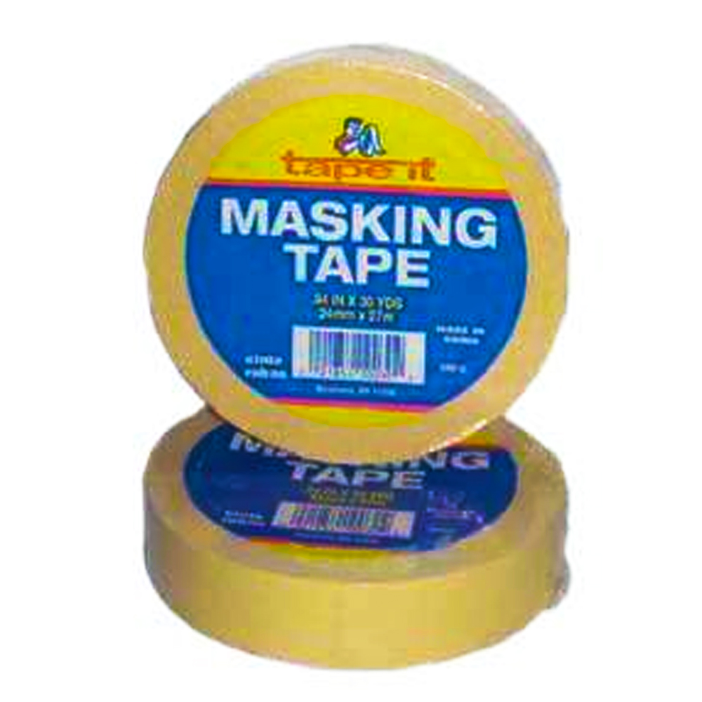 "Tape it Tan 1"" 30 Yard Masking Tape WPM-130"