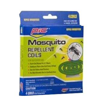 Pic Corp Green 4 Pack Mosquito Repellent Coils C-4-36