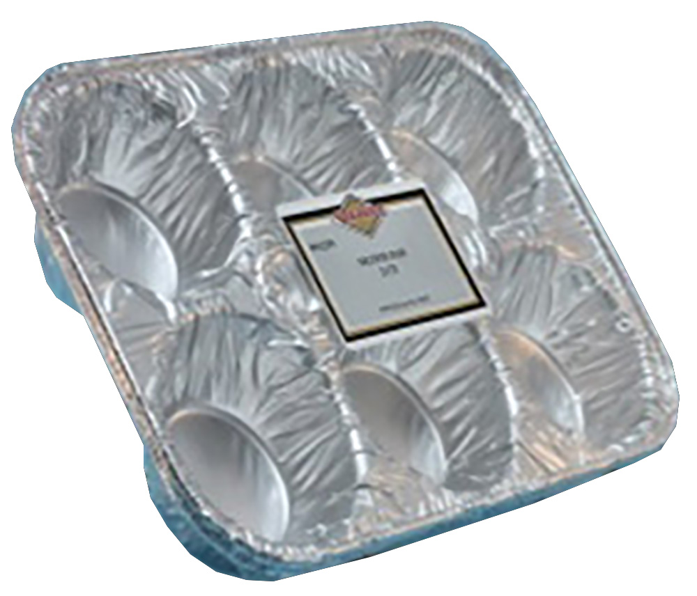 Convenience Packs Aluminum 6 Cup Muffin Tray Pan 1239